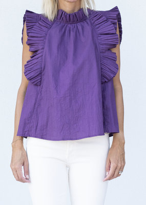 Sea NYC Tivoli Pleated Ruffle Tank- 2 colors