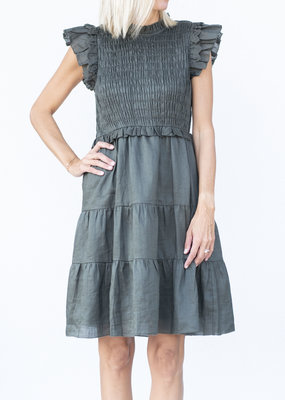 Sea NYC Zig Zag Smocked Dress