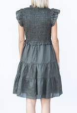 Sea NYC Zig Zag Smocked Dress