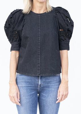 Sea NYC Rue Denim Short Sleeve Top