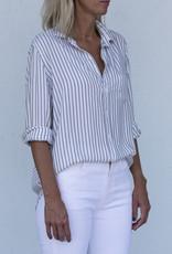 Frank & Eileen Eileen - Blue Vertical Stripe