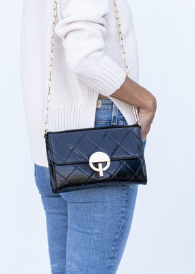 Vanessa Bruno Moon Clutch Noir