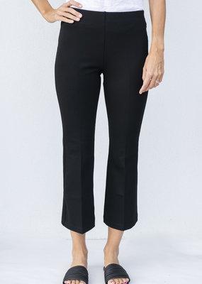 Ann Mashburn Faye Flare Cropped Pant Black