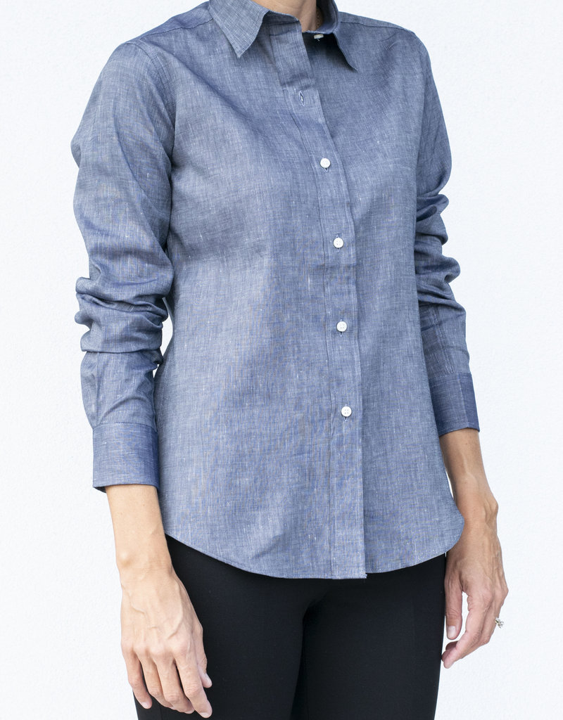 Ann Mashburn Icon Shirt Chambray