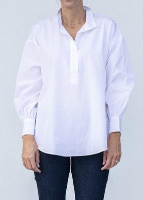 Ann Mashburn Anaya Popover Shirt White