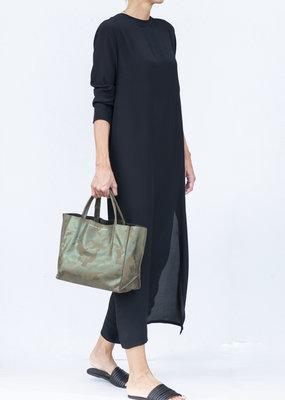 Ottod'ame Black Long Sleeve Dress