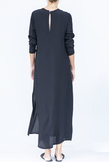 Ottod'ame Black Long Sleeve Dress