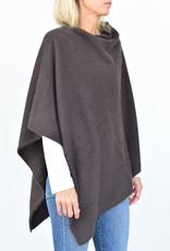CT Plage Sweater Poncho- Dark Brown