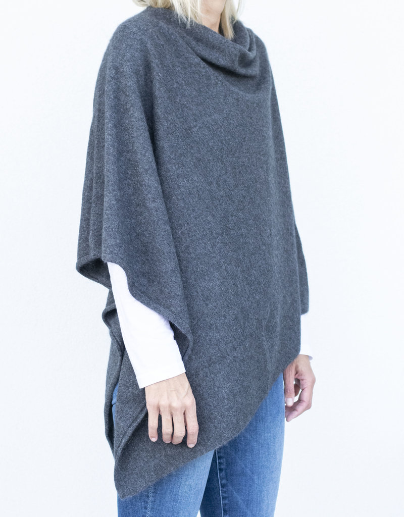 CT Plage Sweater Poncho- Charcoal Grey