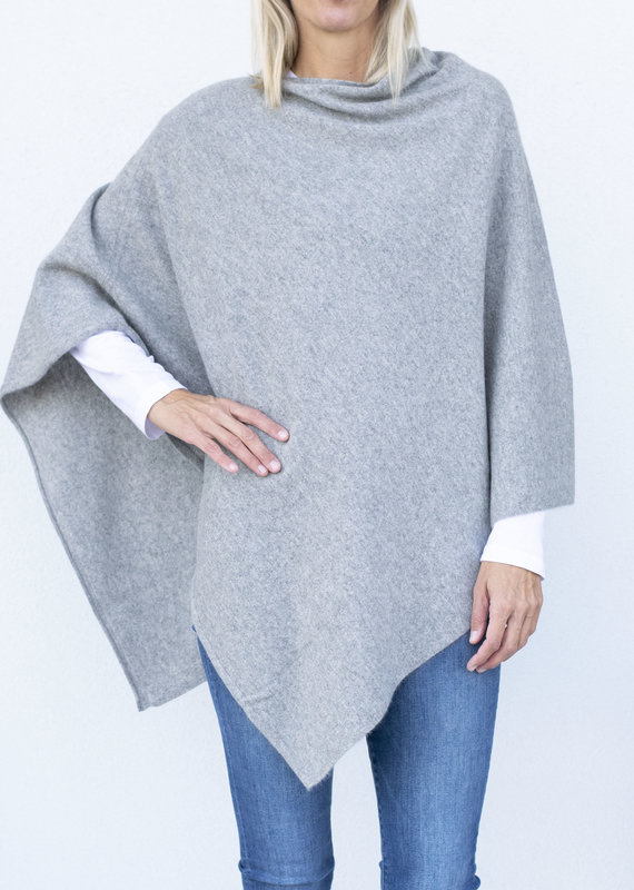 CT Plage Sweater Poncho- Light Grey