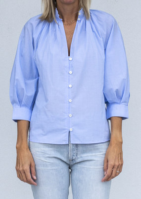 Frame Pleated Vneck