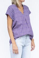 Jag Jewelry and Goods Jana Purple Plaid Flannel