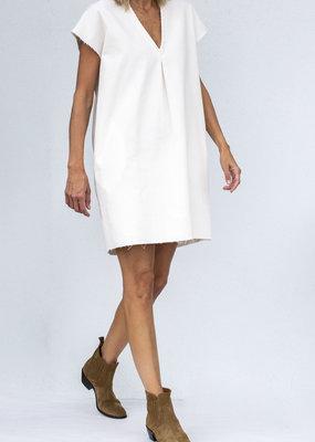 Jag Jewelry and Goods Jewel White Corduroy Dress