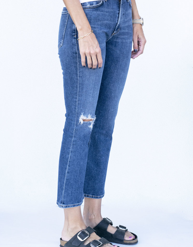citizens of humanity Demy Cropped Flare Distressed Tempo