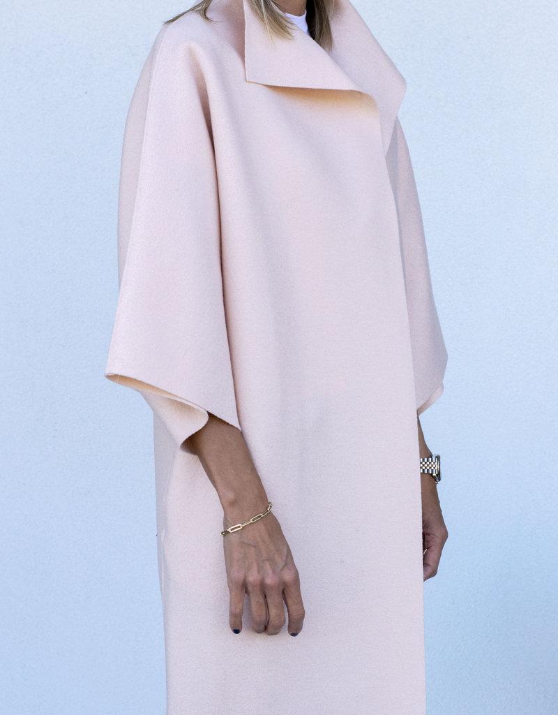 Harris Wharf Kimono Wool Coat Pink