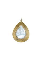 The Woods Fine Jewelry Mother of Pearl Teardrop Pendant