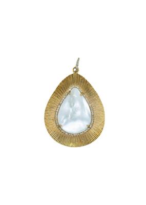 The Woods Fine Jewelry Mother of Pearl Teardrop Pendant