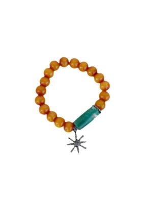 The Woods Fine Jewelry Orange Beaded Bracelet