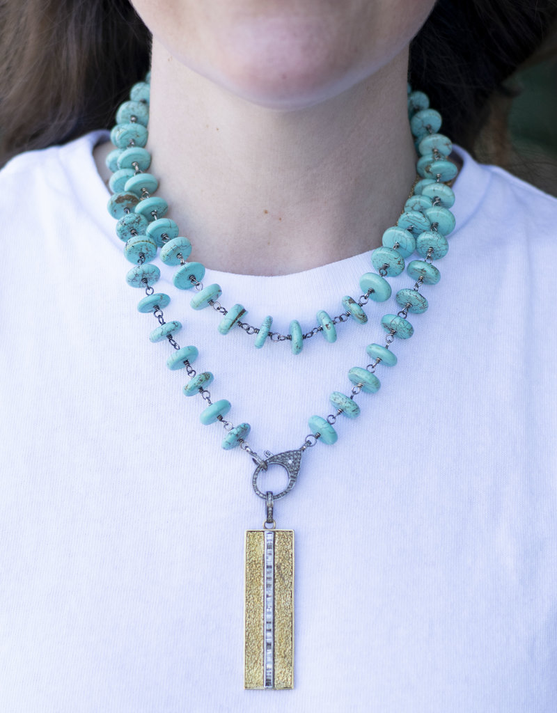The Woods Fine Jewelry Turquoise Beaded Chain