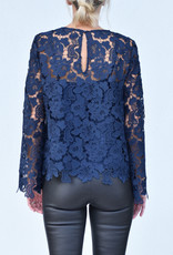 Ottod'ame Navy Lace Top