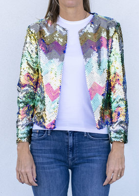 Vilagallo Mila Sequin Jacket