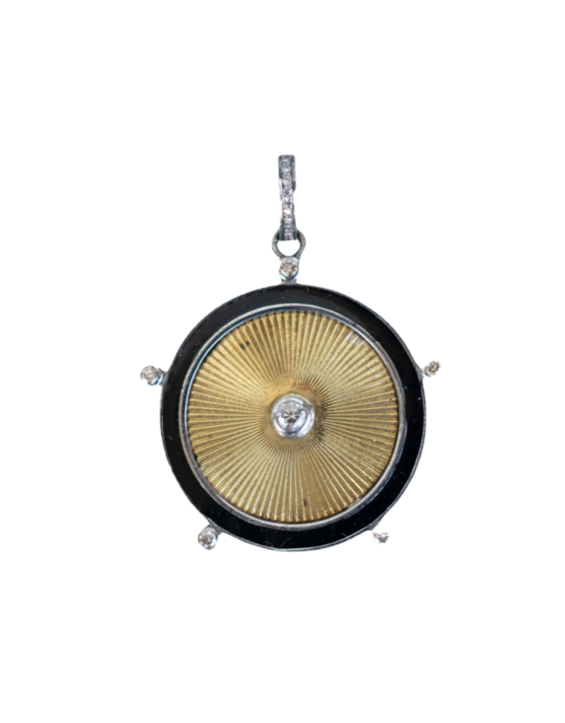 The Woods Fine Jewelry Brass and Enamel Pendant