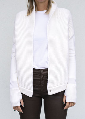NFP Stitch Cocoon Cardigan Winter White