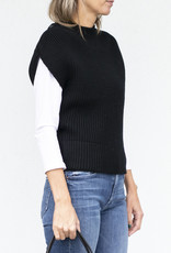 NFP Chunky Snap Sleeve Pullover Black