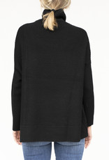 NFP Ribplay Turtleneck Pullover Black