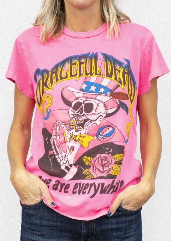 made worn Pink Grateful Dead T Shirt