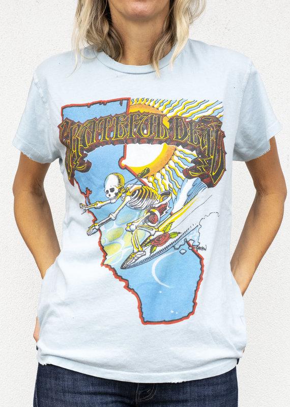 made worn Blue Grateful Dead TShirt