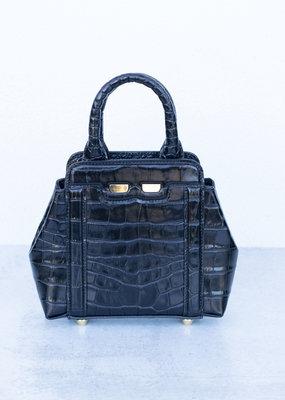 Bene Handbags The Mini Nott-Black Gator