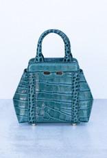 Bene Handbags The Mini Nott-Emerald Gator