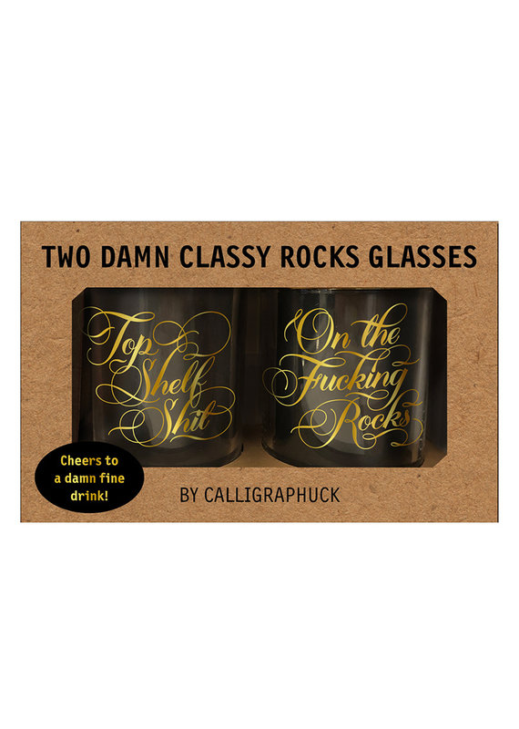 Hachette Too Damn Classy Rocks Glasses
