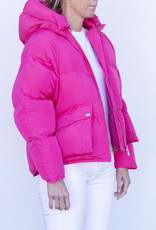 Toast Pluto Puffer Jacket Hot Pink