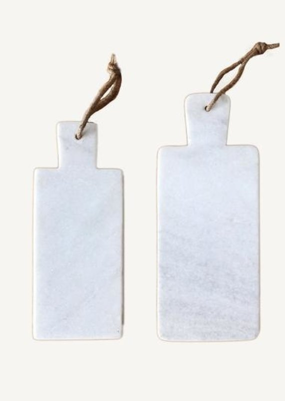 Civil Alchemy White Marble Cutting Board- Large