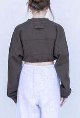 YAH Too Cropped Sweatshirt- Olive