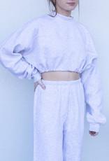 YAH Too Cropped Sweatshirt- Grey