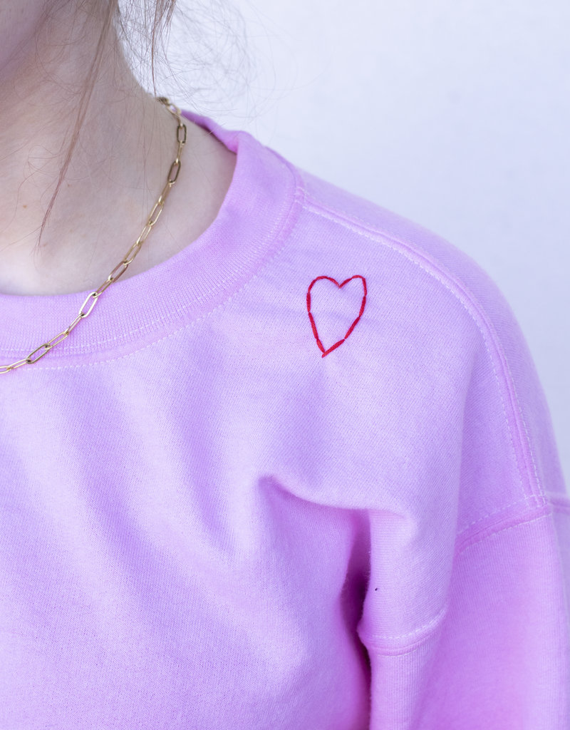 YAH Too Pink Love Sweatshirt