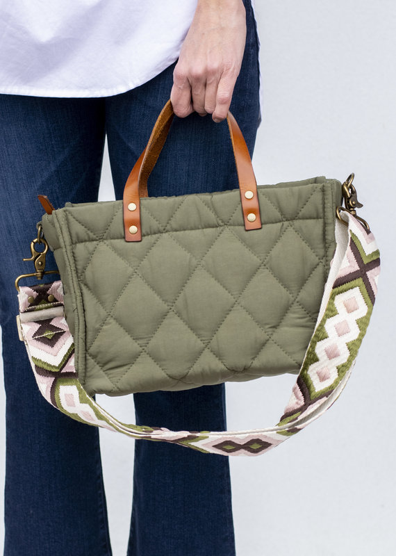 Parker Thatch Small Quilted Olive Mimi Bag