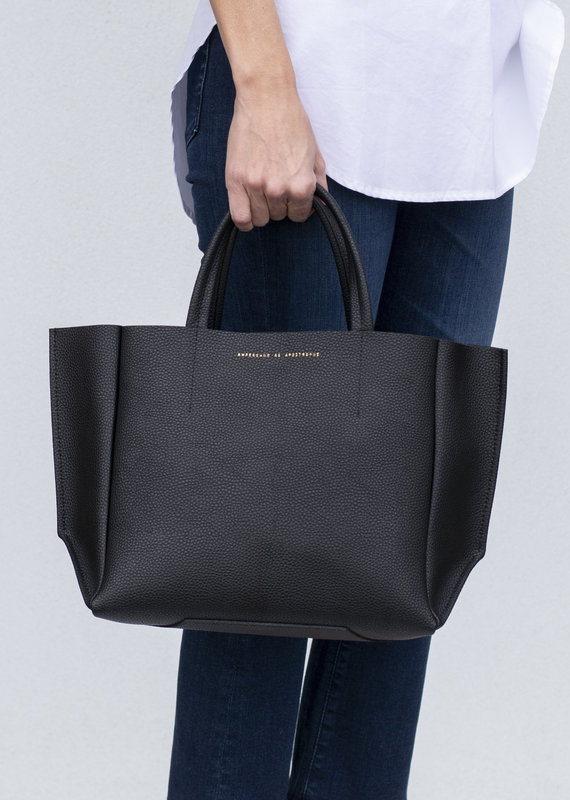 Ampersand As Apostrophe Half Tote - Black Lux
