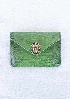 Claris Virot Alex Lizard Card Holder-Green Empire