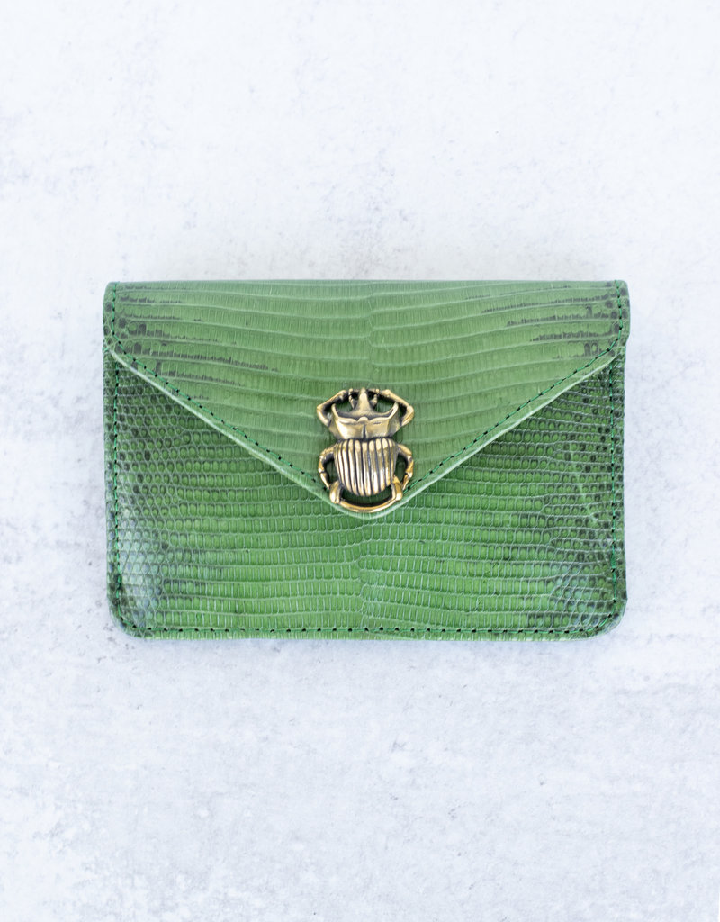 Claris Virot Alex Lizard Card Holder-Green Empire