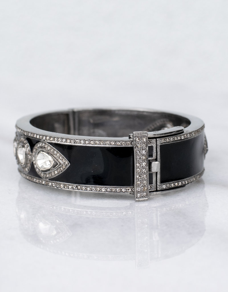 The Woods Fine Jewelry Enamel and Diamond Bangle