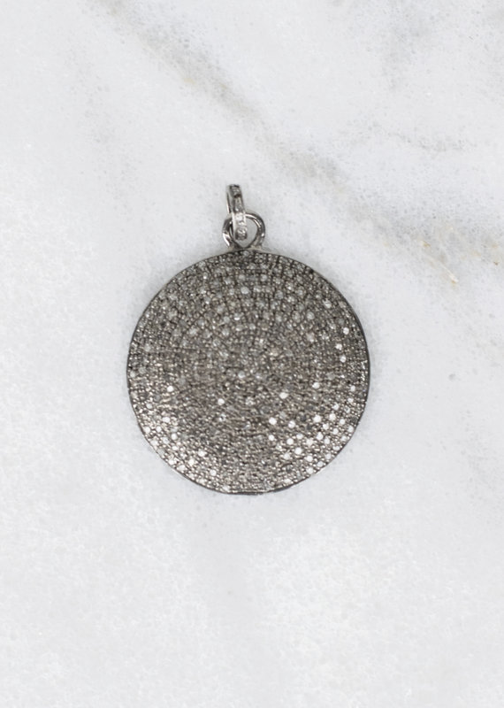 The Woods Fine Jewelry Pave Disc Pendant