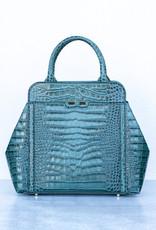Bene Handbags The Nott-Emerald Gator