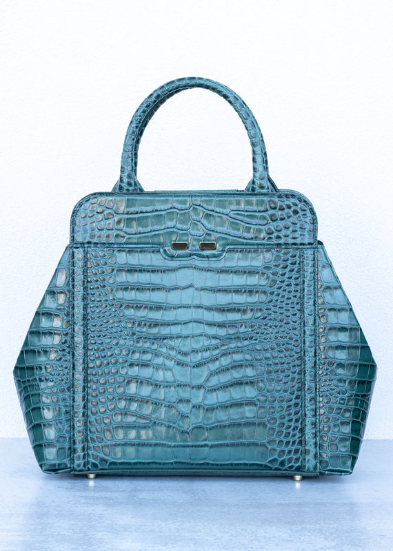 Bene Handbags The Nott-Emerald Gator