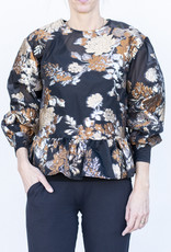 Ottod'ame Floral Top- Gold