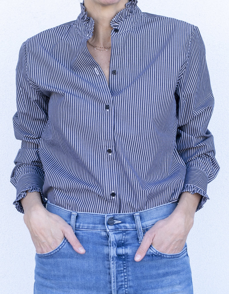 Nili Lotan Lydia Shirt-Black Stripe