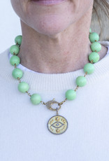 The Woods Fine Jewelry Turquoise chain with brass clasp